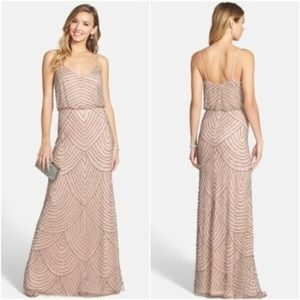 Adrianna Papel nude beige sequin size 6 dress